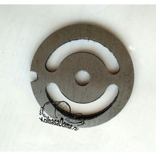 Решетка для мясорубки d 54 мм с 2 отверстиями