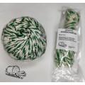 Шпагат для колбасы х/б бело-зеленый